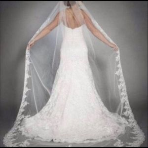New bridal Cathedral weddings veil 9 feet long